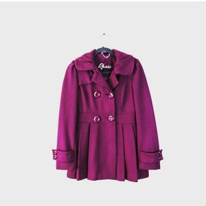 GUESS Winter Peacoat Dark Pink